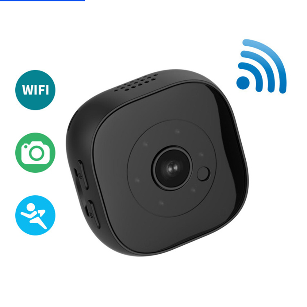 Mini WiFi Wireless Hidden Spy Camera H9 HD Waterproof Cams Home Security Battery Powered Motion Detection black