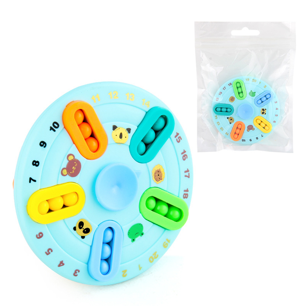 Double-sided  Rotating  Magic  Bean  Ball  Plate  Toys Rotating Stress Reliever Puzzle Educational Toy Round shape