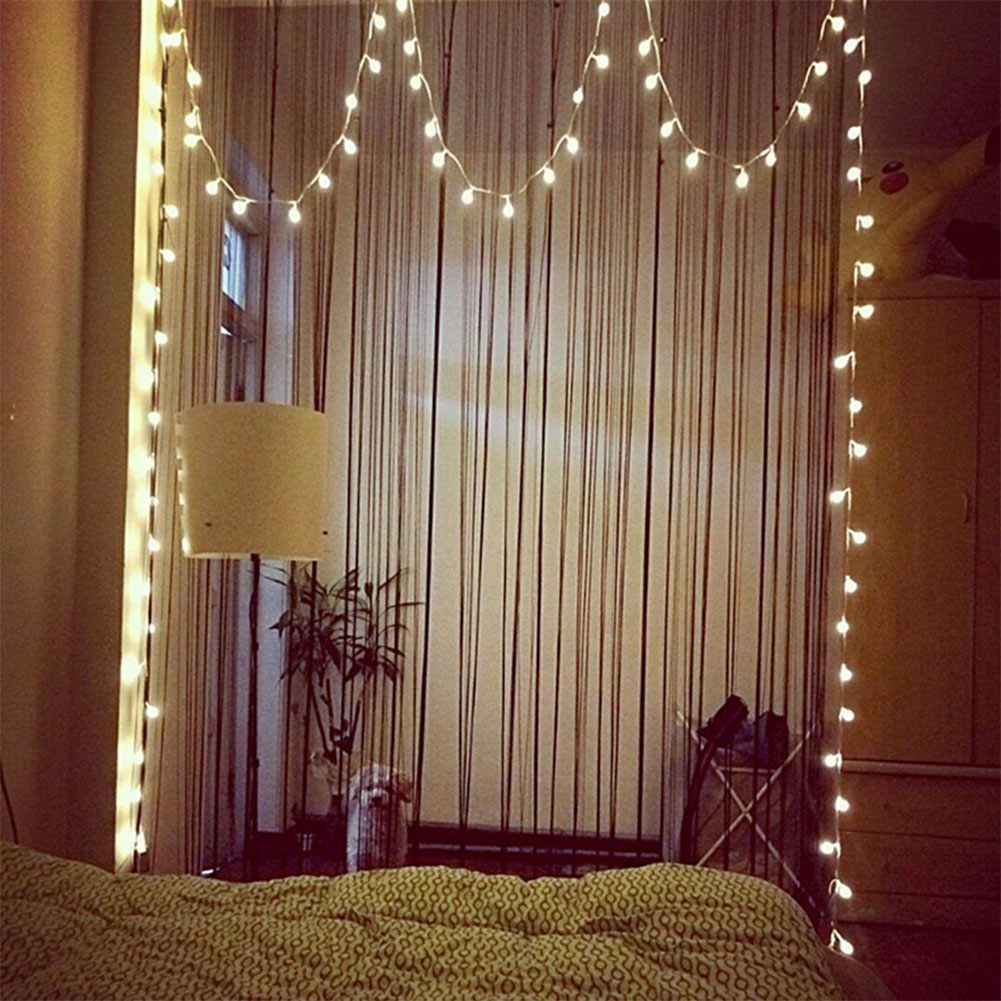 Battery Box LED Ball Bulb String Lights with White Light Garden Home Party Bar Decoration 3.5 meters 20 lights ball lights string