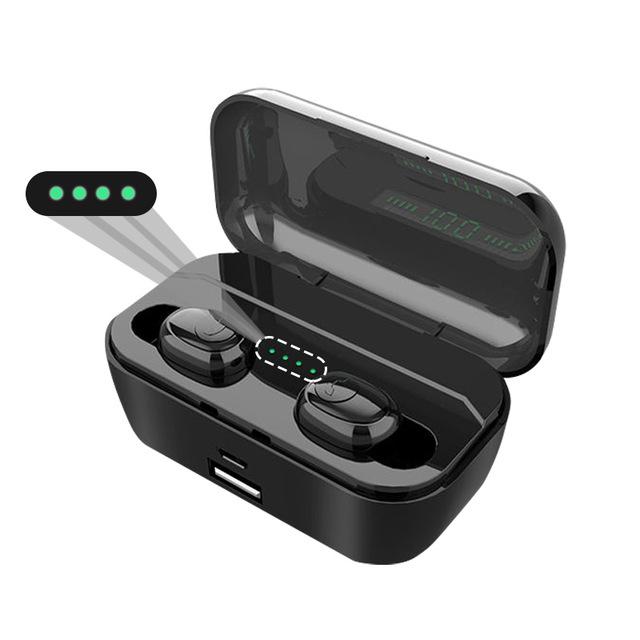 G6s Bluetooth Earphones TWS Wireless 5.0 Handsfree Earphone Sports Bass Earbuds with Mic 3500mAh Charging Box black