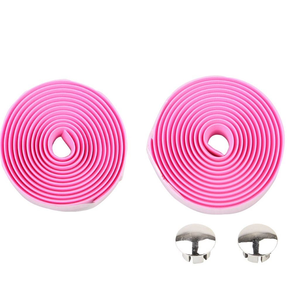 Bicycle Handlebar Tape Steering Wheel Cover Road Bike Cycling Handle Non-slip Belt Rubber Tape Bike Accessories Pink