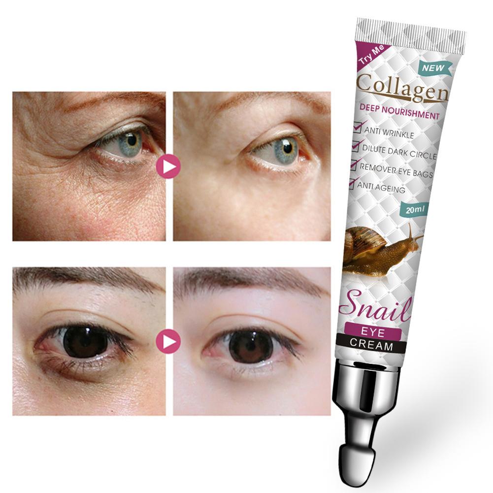 Eye Cream Collagen Snail Eye Cream Firming Moisturizing Eye Care Reduce Fine Lines Eye Cream 20ML