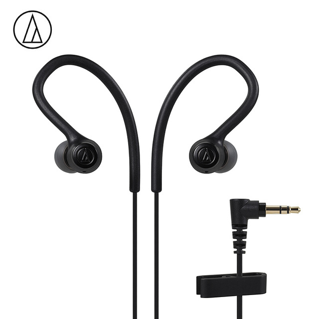 Original Audio-Technica ATH-SPORT10 In-ear Wired Earphone Music Headset Sport Earbuds With IPX5 Waterproof For Huawei Xiaomi Black