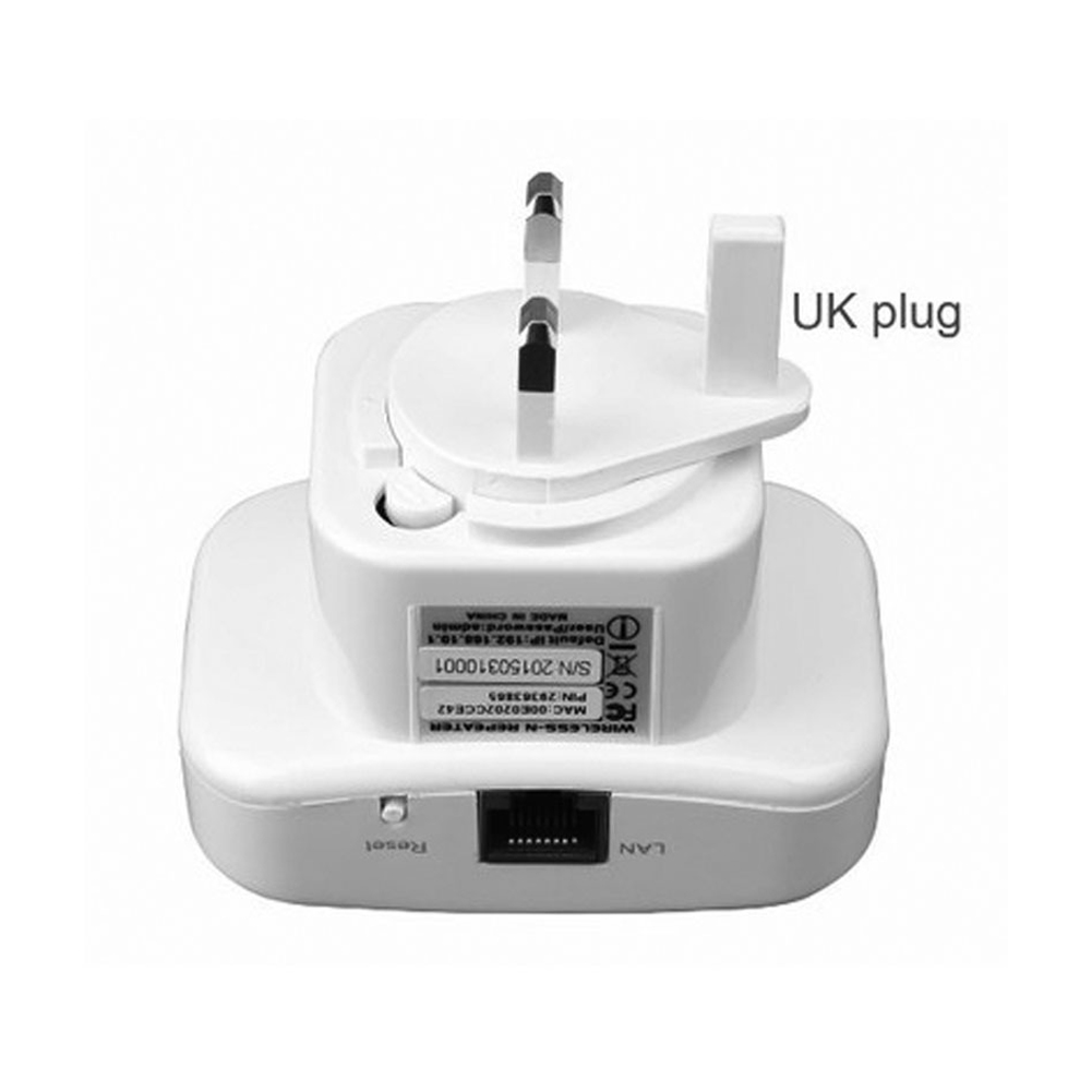 Wireless Router WIFI Repeater Signal Amplification Repeater 300M with RJ45 Cable UK Plug