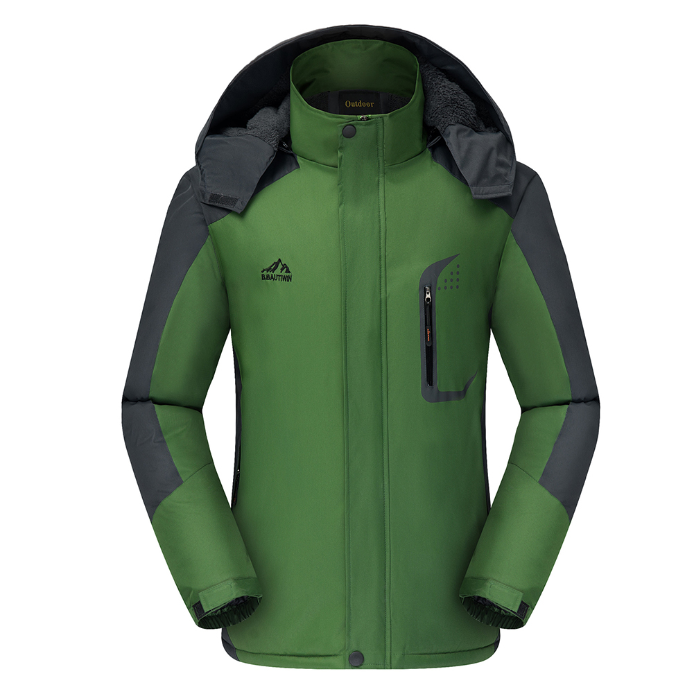 Men's Jackets Winter Thickening Windproof and Warm Outdoor Mountaineering Clothing  green_L