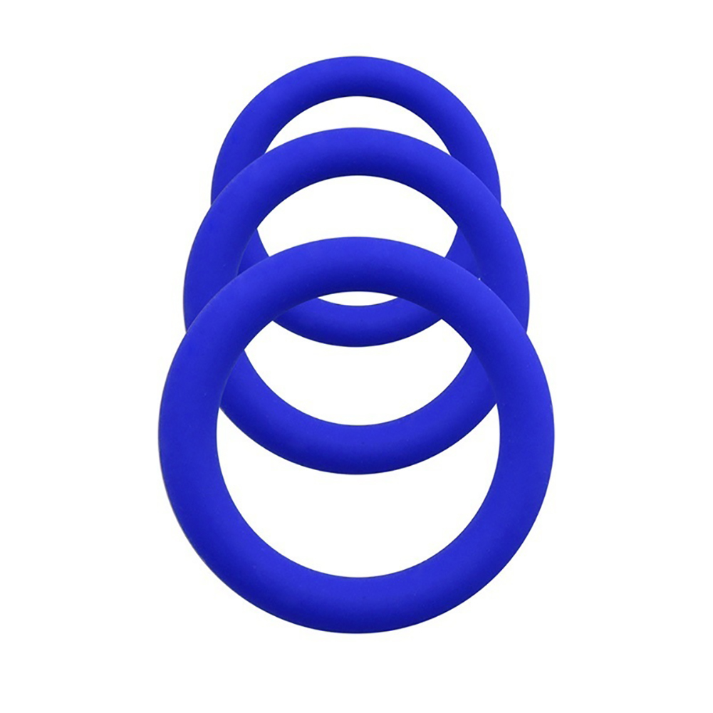Novelty Colorul Rubber Delay Rings Cocking Ring for Man Male blue