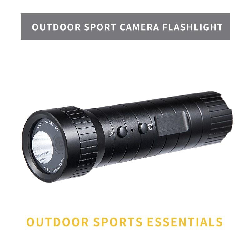1080P Mini Sport Camera Helmet Hd 120 Wide Angle Waterproof Flashlight Loop Recording Sport Camera black
