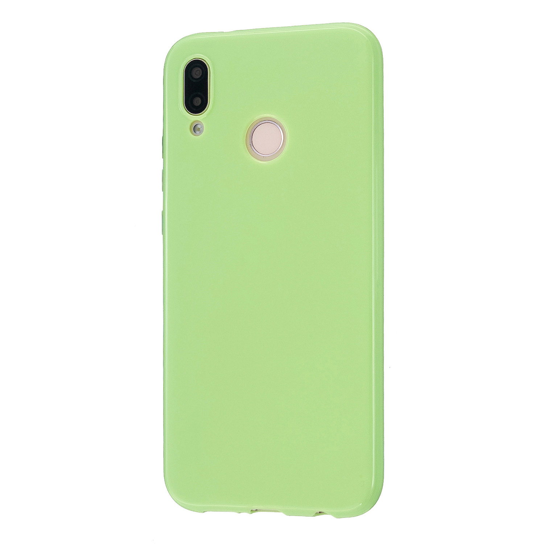 For HUAWEI P20/P20 Lite/P20 Pro Cellphone Case Simple Profile Soft TPU Phone Case Anti-Slip Smartphone Cover Fluorescent green