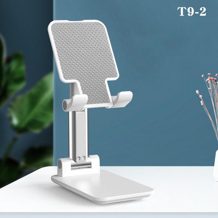 Universal Desktop Mobile Phone Holder Mini Portable Foldable Telescopic Desktop Stand T9-2 White