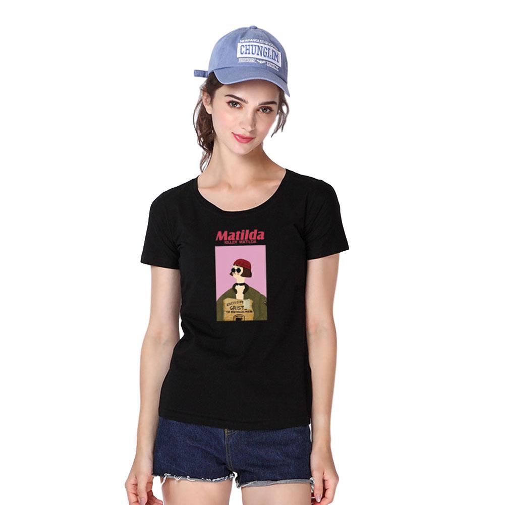 Women Men T Shirt Fashion Loose Short Sleeve Tops for Couple Lovers Black female_XL