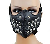 [EU Direct] Dysfunctional Doll Black Spike Motorcycle Face Mask Protective Paint Ball Gear