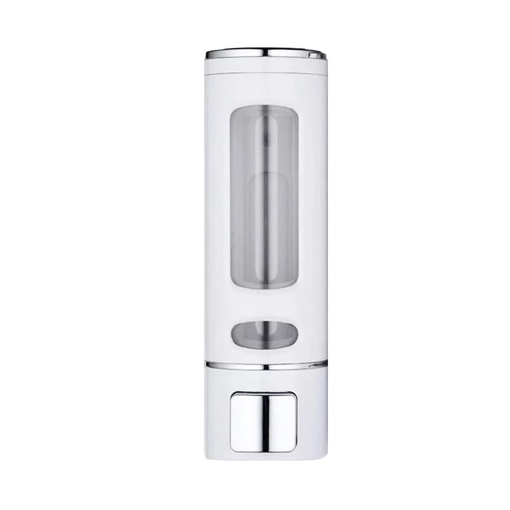 400ml Large Capacity Pressing Abs Plastic Wall Mount Liquid Hand Soap Dispenser white