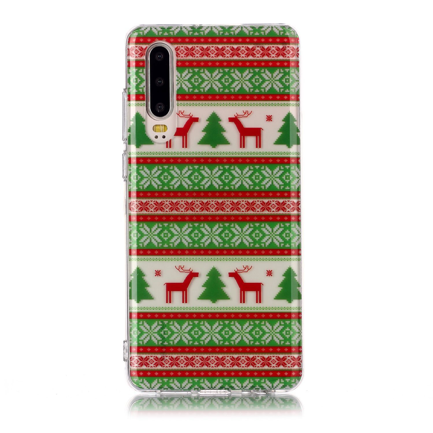 Christmas Phone Case.For Huawei P30 Christmas Phone Case Anti Fall Protective Shell Super Soft Tpu Smartphone Cover Birthday Gift