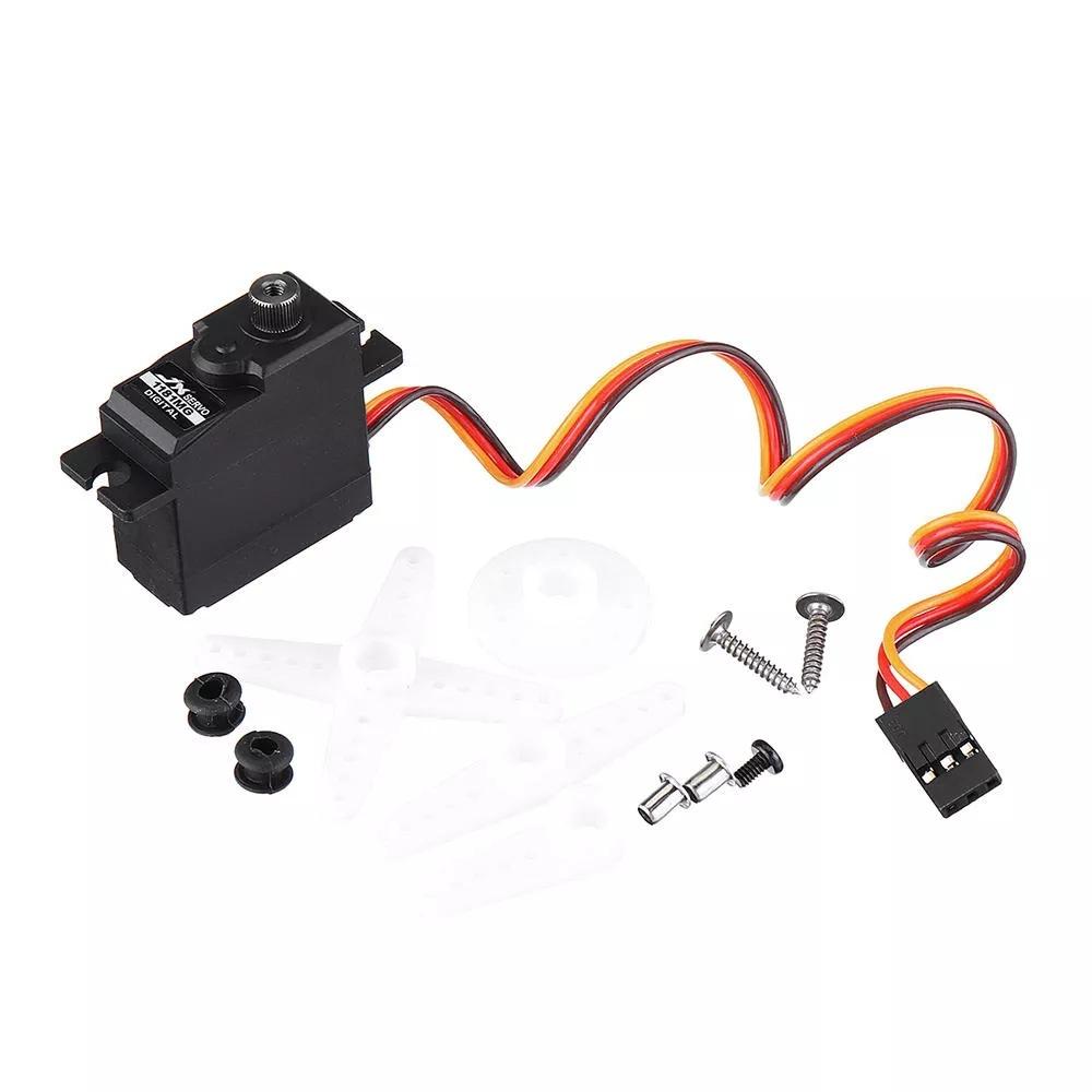 WPL D12 Metal OP Accessaries Diy Upgrade Rc Off Road Car Model Spare 17g metal gear steering gear_1:16