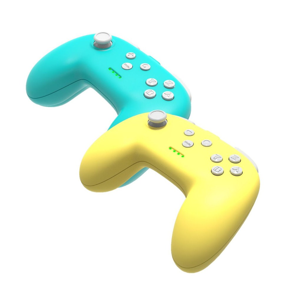 1 Pair of Bluetooth Wireless Game Controller for Switch Pro  Green + yellow