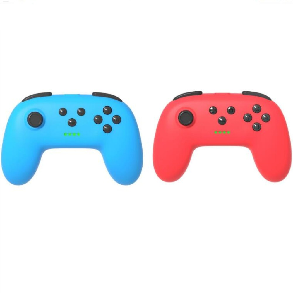 1 Pair of Bluetooth Wireless Game Controller for Switch Pro  Red + blue
