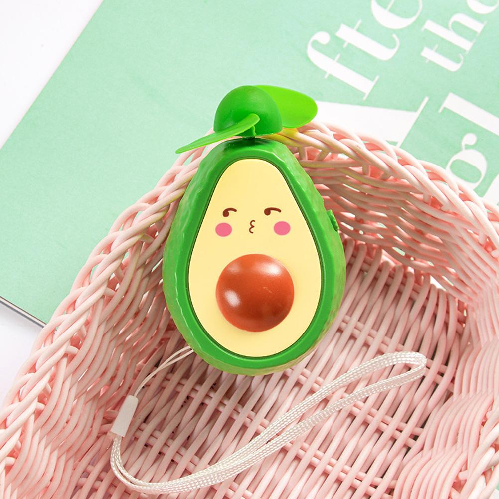Mini Handheld Fan Avocado Shape Portable USB Charging Fan for Office Home Travel pouting_9.5 * 6cm
