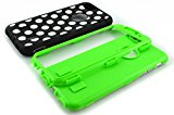 iPhone 6 case,ENRGO iPhone 6 4.7` (2014 version) case,3 in 1 Combo Polka Dot Tuff Hybrid Shockproof Case Cover Protector for iPhone 6 (2014 version) - Green