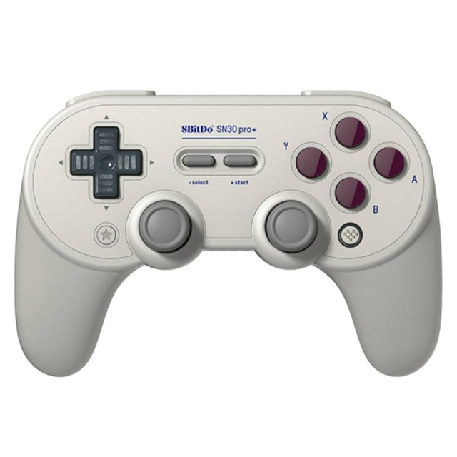 SN30 PRO+ Bluetooth Gamepad Controller with Joystick for Mac OS Switch Windows Android light grey