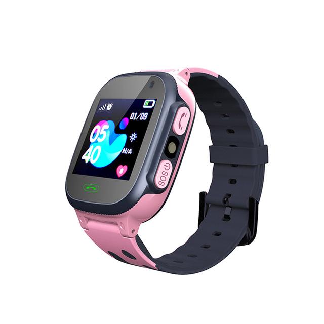 Q15 Kids Smart Watch Children SOS Antil-lost Waterproof Smartwatch 2G SIM Card Clock Location Tracker Watch Pink