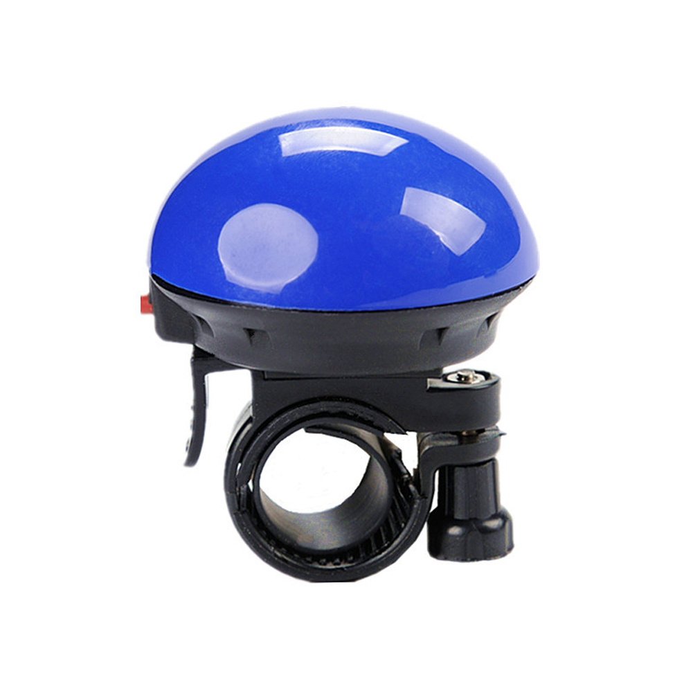 Bike Bell Electronic Car Speaker Mushroom Electronic Horn Mushroom Speaker Bell Handlebar Ring Bell blue