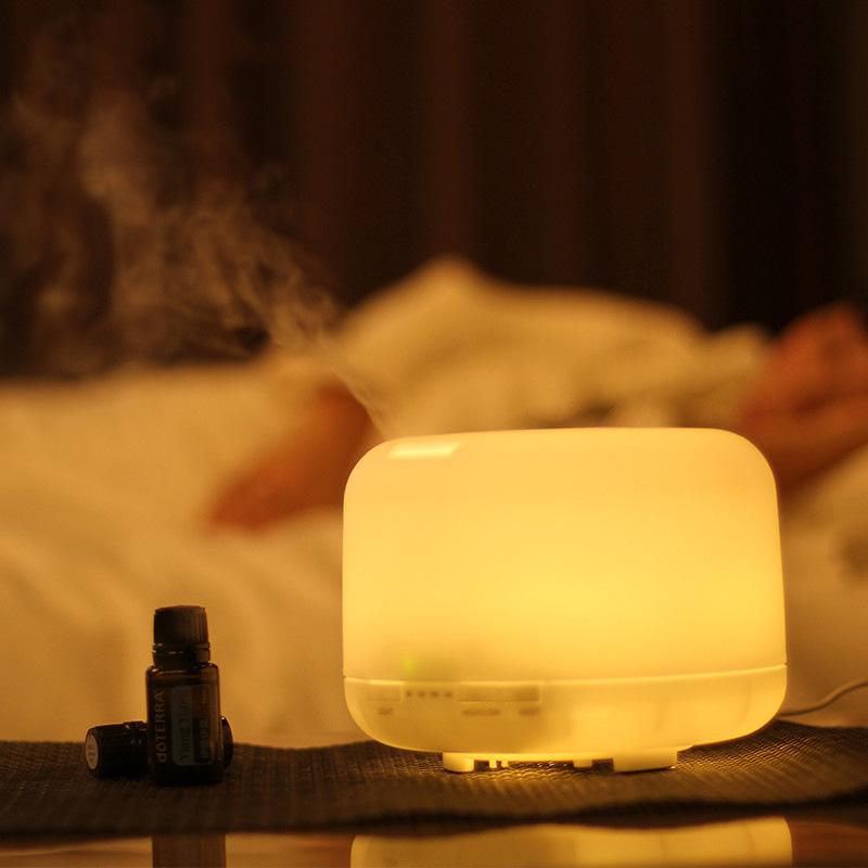 Colorful Humidifier 500ml Creative Fashion Fragrance Lamp Ultrasonic Humidifier Warm White_European regulations
