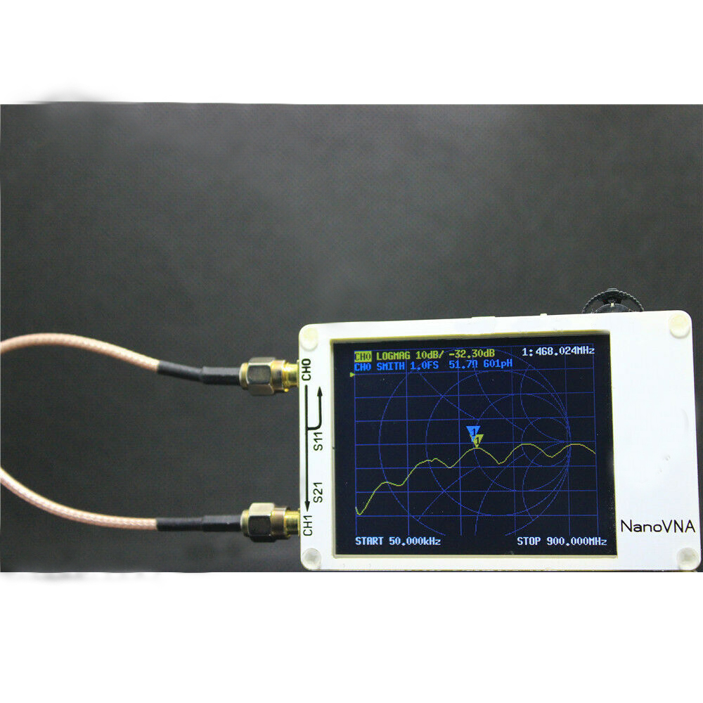 2.8Inch LCD NanoVNA VNA HF VHF UHF UV Vector Network Analyzer Antenna Analyzer + PC Software + Battery white