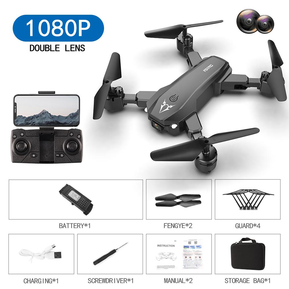 S80  2.4g  Drone Black Orange Drone Toy Black 1080p dual camera