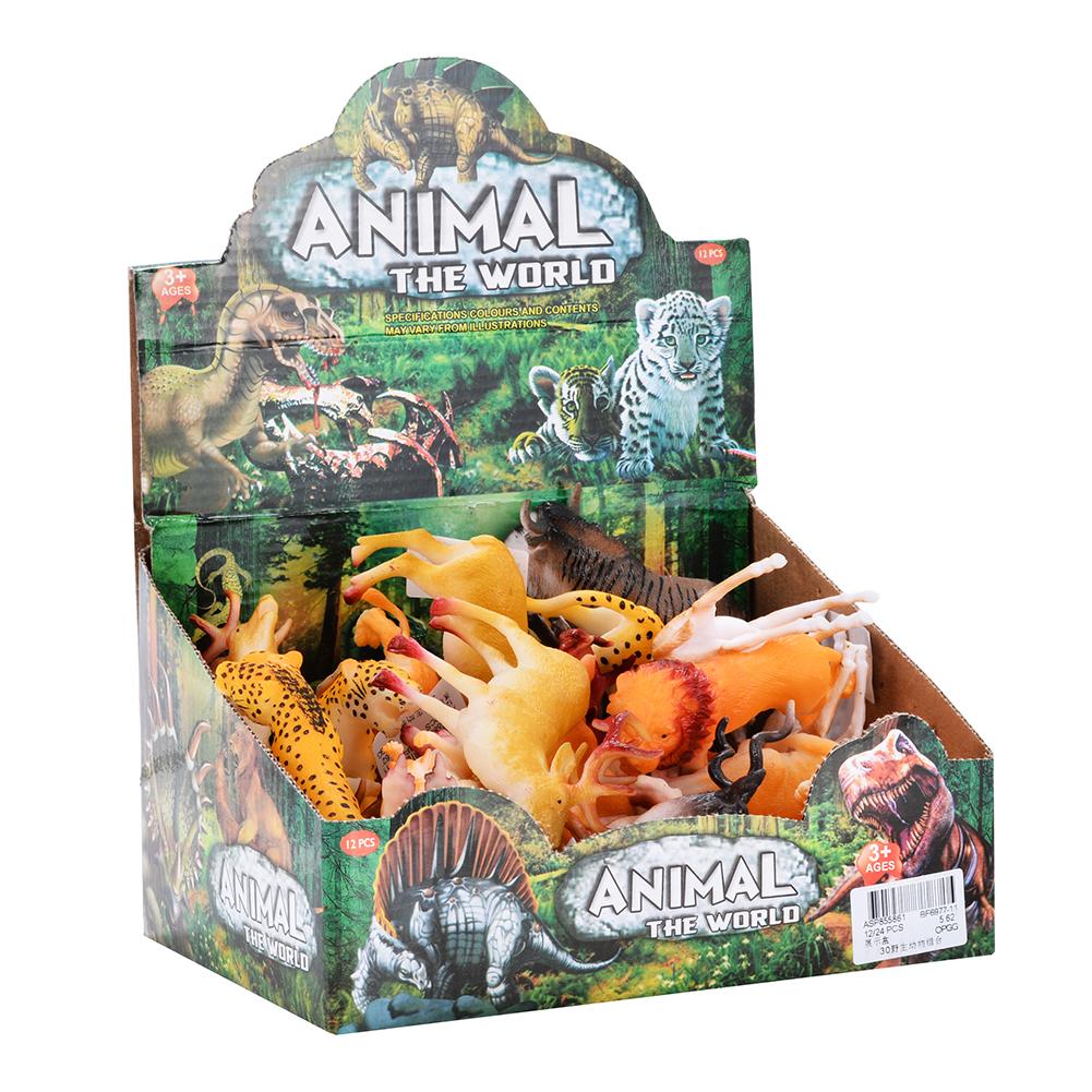 [US Direct] Mini Wild Animal Figure Toys Animal Action Figure Set Kids Animal Toy (30-Piece)