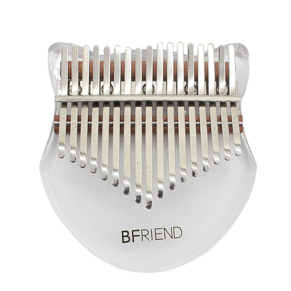 17-key Acrylic Kalimba Fox-shape Thumb Piano with Tuning Hammer Transparent color