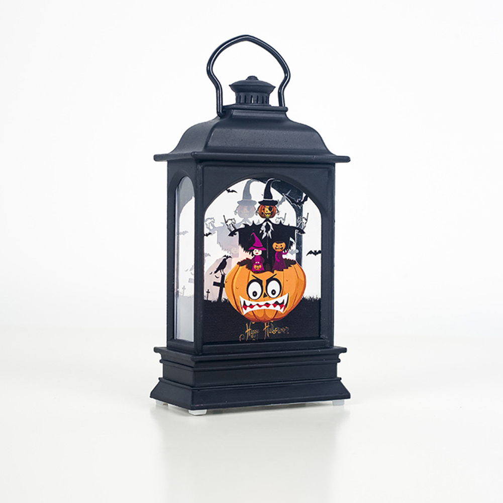 Electric Halloween Candle Transparent Lantern LED Bar Atmosphere Decoration Supplies Pumpkin man
