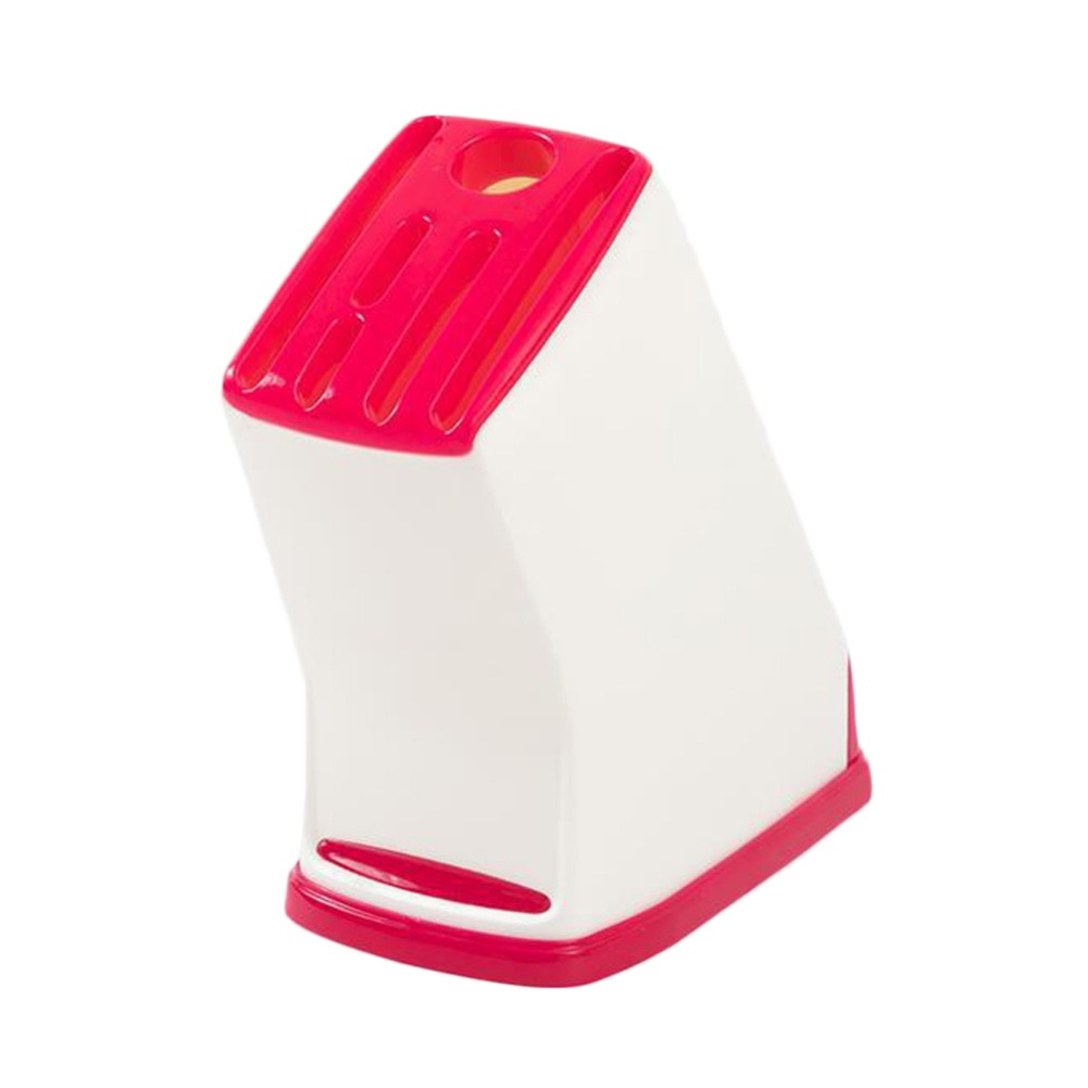 Household Kitchen Plastic Cutter  Holder Plastic Kitchen Tool Mount Rack Red