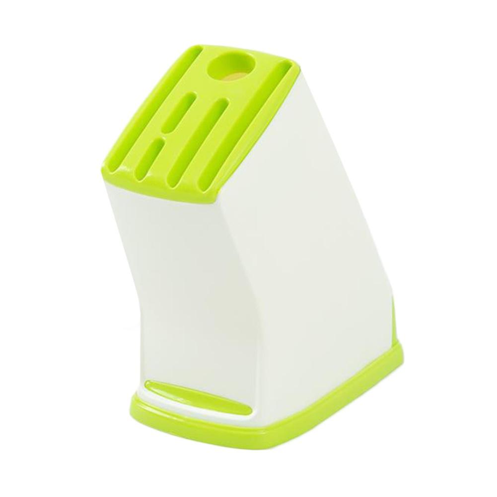 Household Kitchen Plastic Cutter  Holder Plastic Kitchen Tool Mount Rack Green
