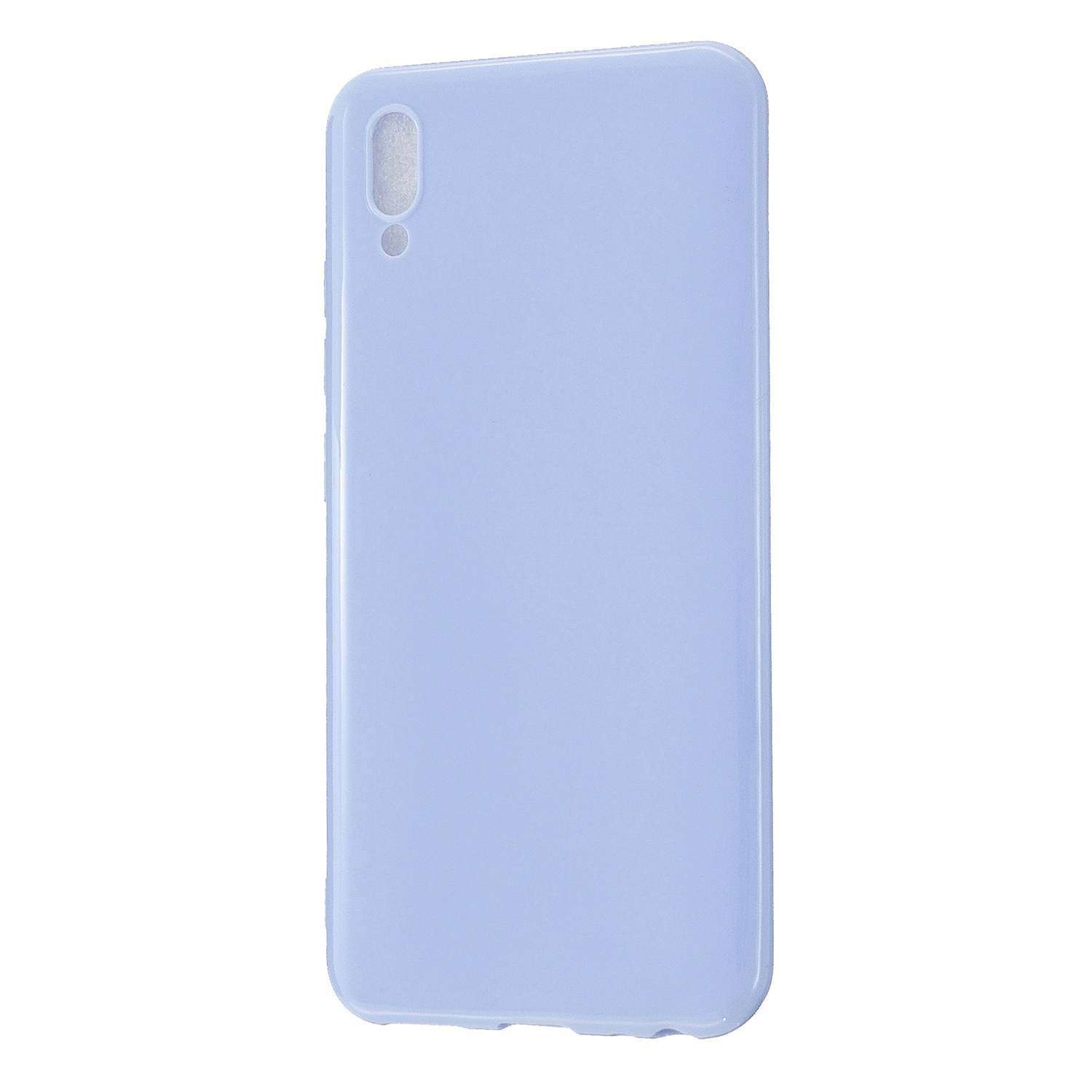 For VIVO Y93/Y95 Mobile Phone Case Glossy Finish Lightweight TPU Cellphone Cover Anti-scratch Overal Protection Shell Taro purple