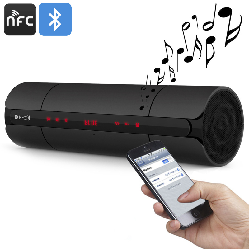 Wireless Bluetooth Speaker - NFC, 3D Sound Technology, Built-in Mic, 4 Hours Play Time, FM Radio Function, 32GB TF Card Slot