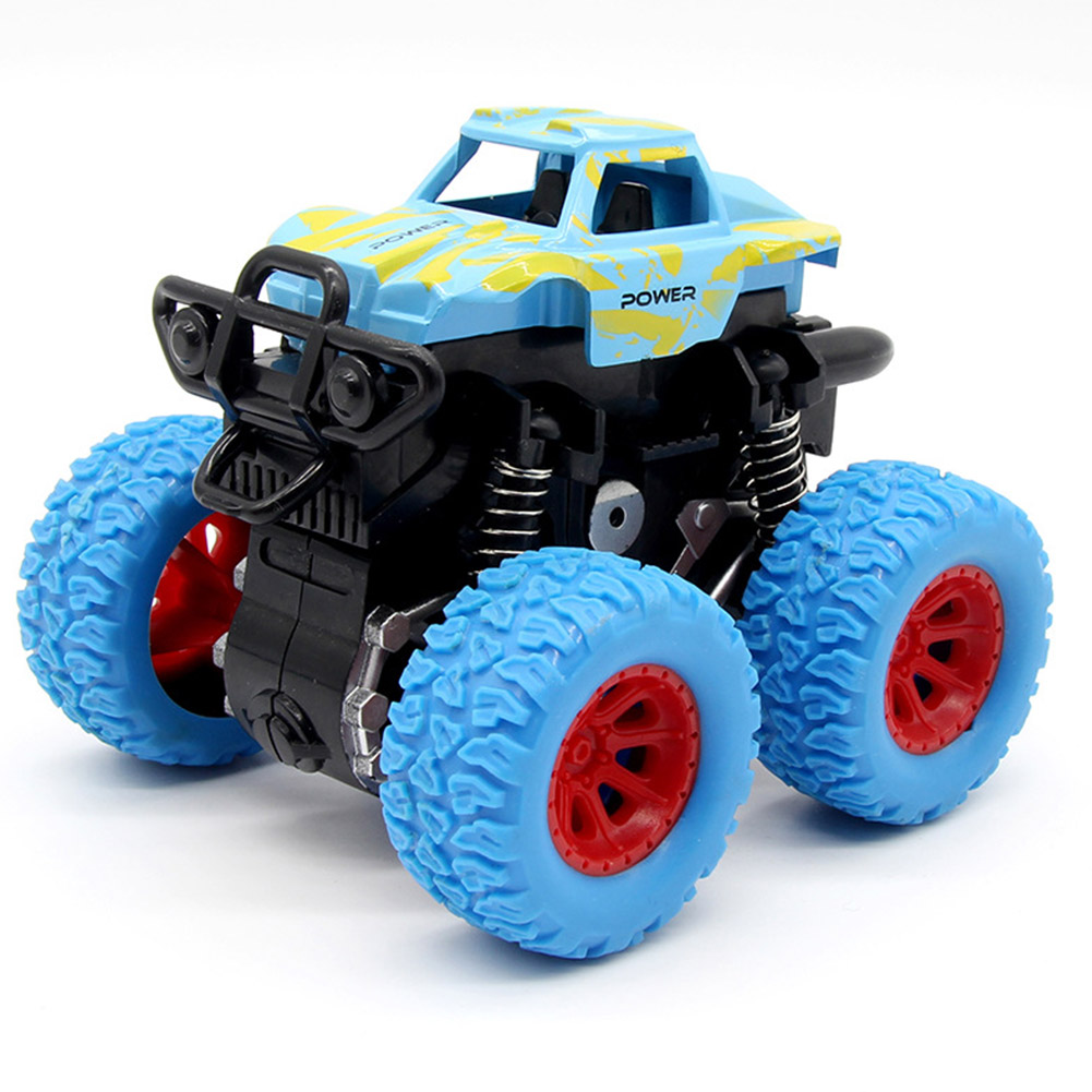 Inertia Shockproof Four-wheel Drive SUV Baby Child Boy Simulation Vehicle Model Car Anti Crash Toy blue