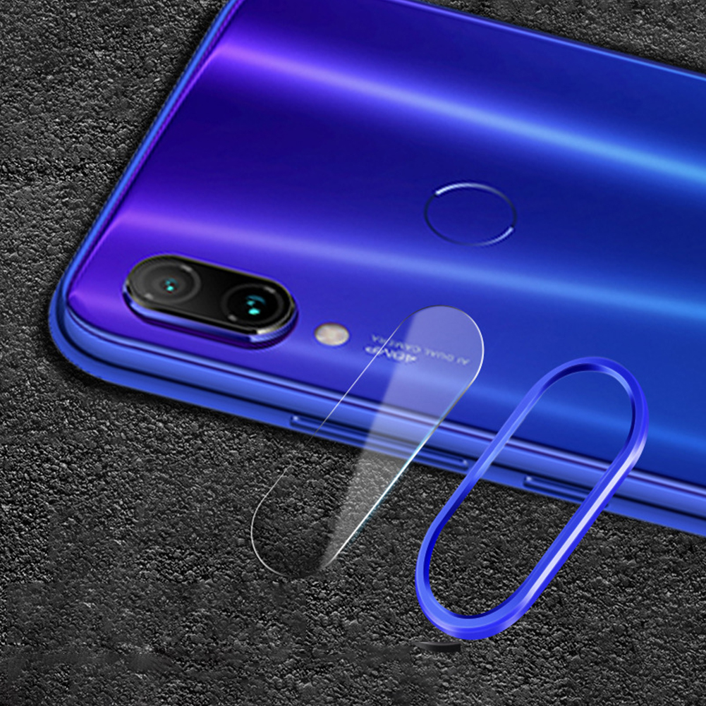 Solid Color Rear Camera Lens Protective Film+Ring for Xiaomi 9/9SE Redmi note 7pro
