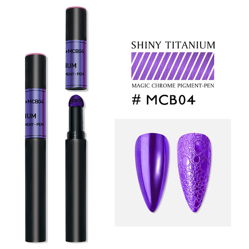 Solid Powder Air Cushion Magic Pen Nail Art Magic Mirror Effect Phantom Nails Pen Manicure Tools Mirror magic mirror-04#