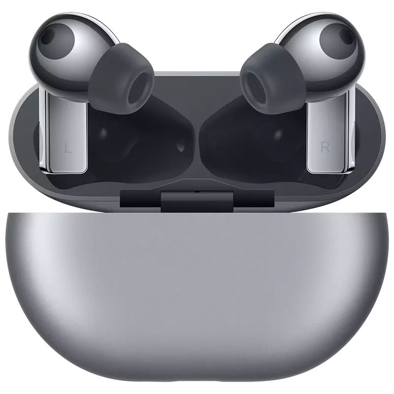 Original HUAWEI FreeBuds Pro Earphone TWS In-ear Bluetooth 5.2 Headset Earbuds Active Noise Cancellation Earphones Silver_Freebuds pro wireless charger