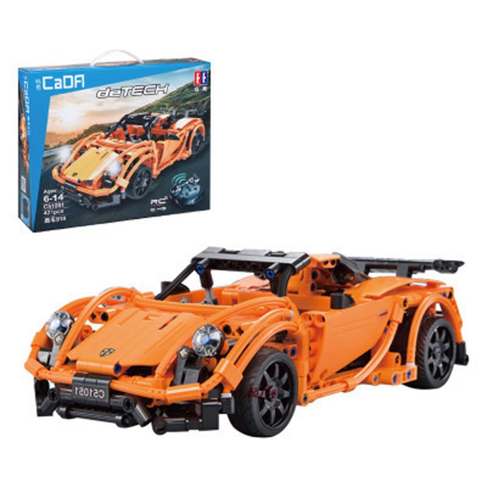 421pcs DIY Remote Control Building Block Puzzle Assembling Electric Sports Car Puzzle Toy C51051 Porsche 421PCS