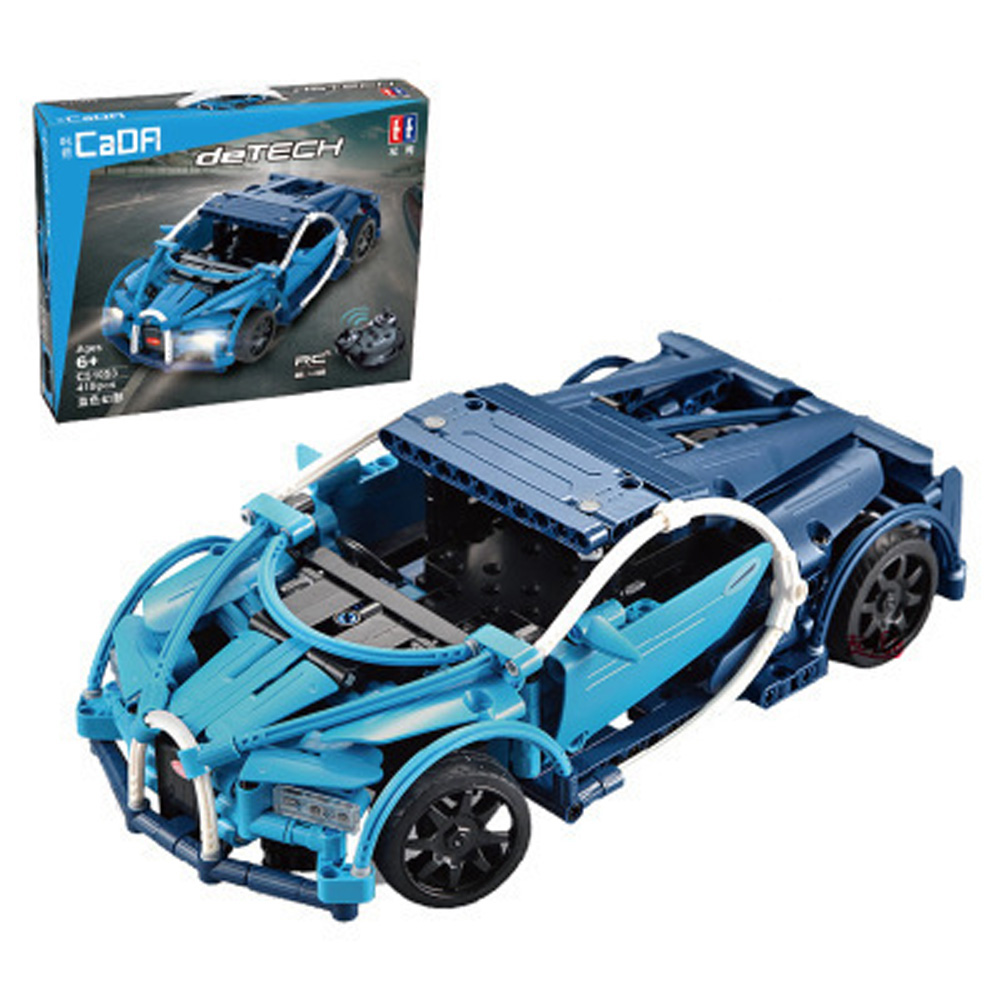 421pcs DIY Remote Control Building Block Puzzle Assembling Electric Sports Car Puzzle Toy C51053 Bugatti 421PCS