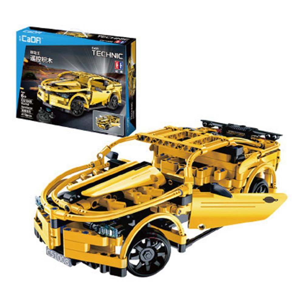 421pcs DIY Remote Control Building Block Puzzle Assembling Electric Sports Car Puzzle Toy C51008 Hornet 419pcs