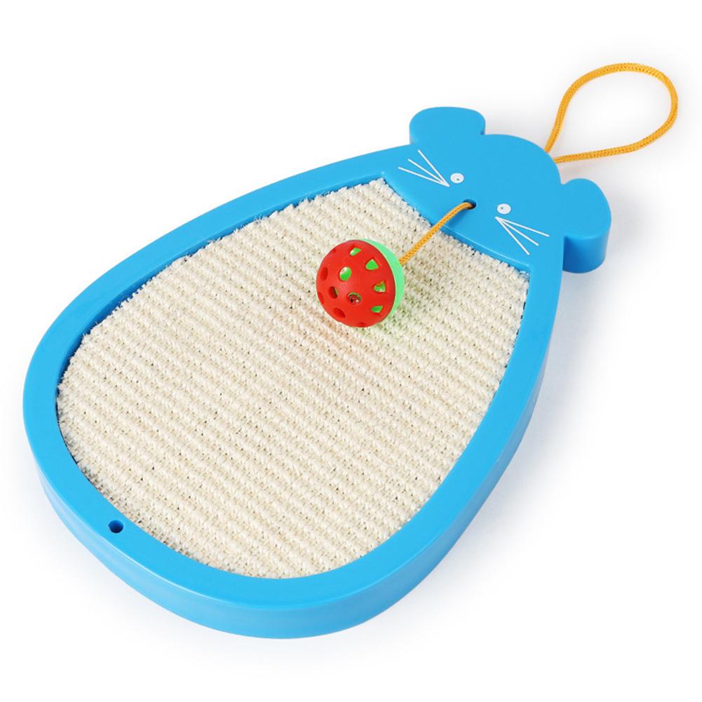 Mouse Type Natural Sisal Belt Ball Bell Cat Scratch Board