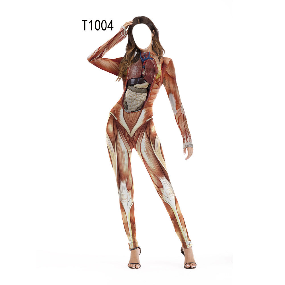 Female Slim Jumpsuits Long Sleeve Cosplay Custome for Halloween Party Festival  T1004_S/M