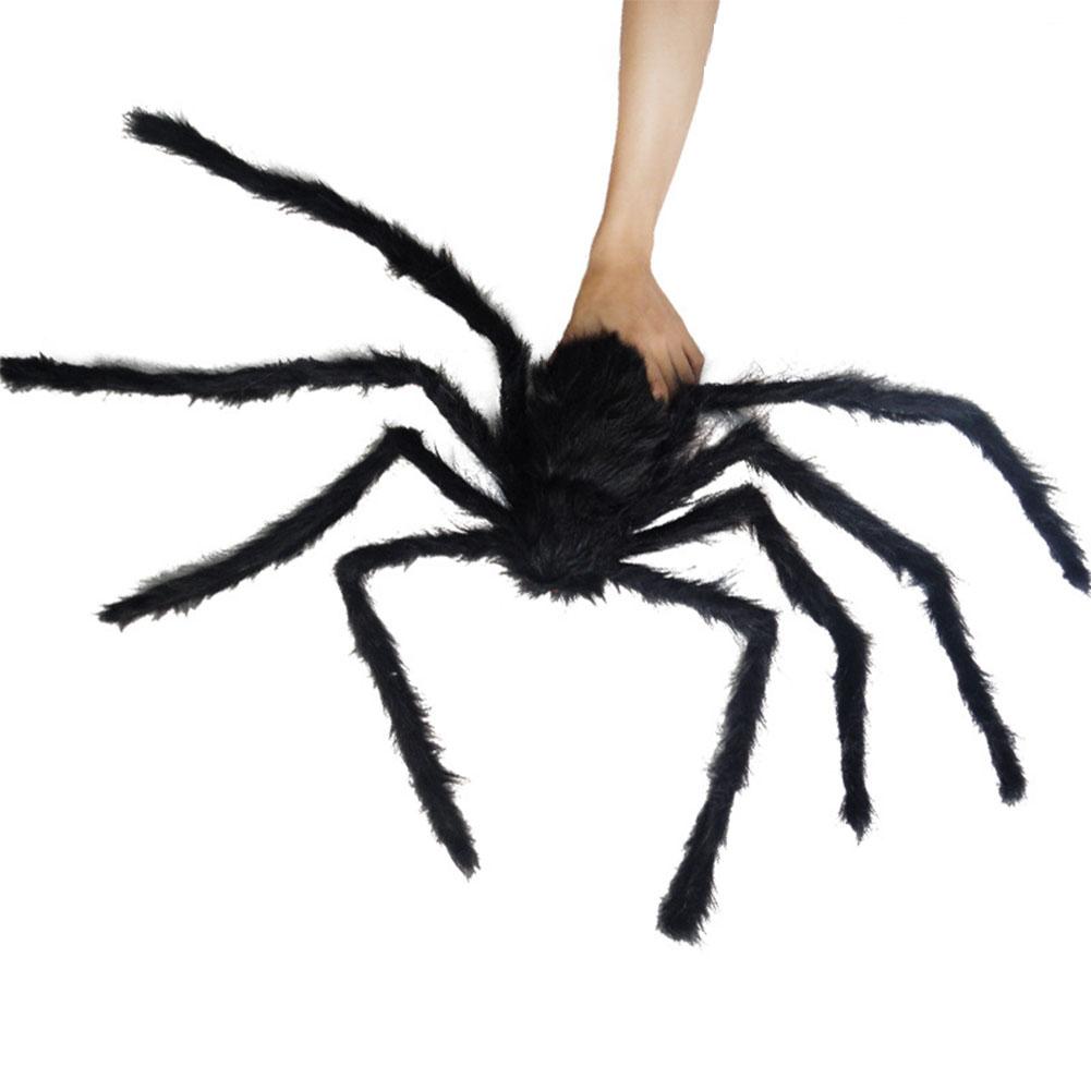 Halloween Simulate Spider Hanging Pendant for Halloween Bar Haunted House Prop Indoor/Outdoor Decoration 1.5 m black spider