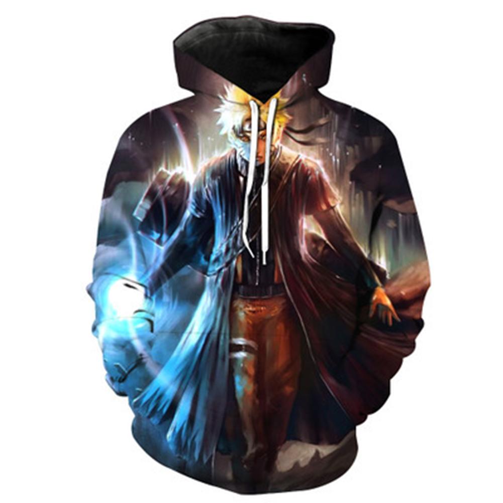 Women Men 3D Printing Cosplay Costume Hooded Jacket Pullover  Gradient Naruto_M
