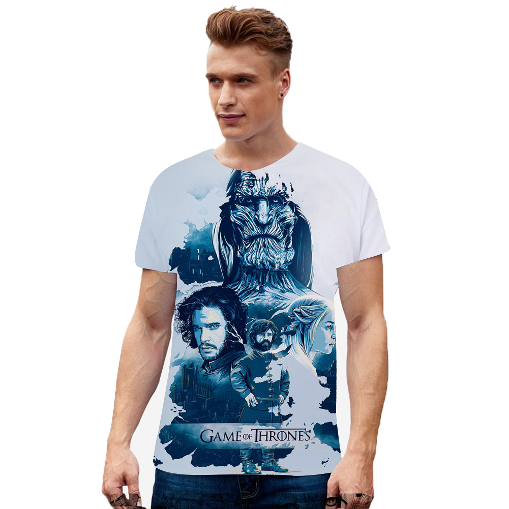 Men Women Summer Game of Thrones 3D Printing Short Sleeve T Shirt 9_L
