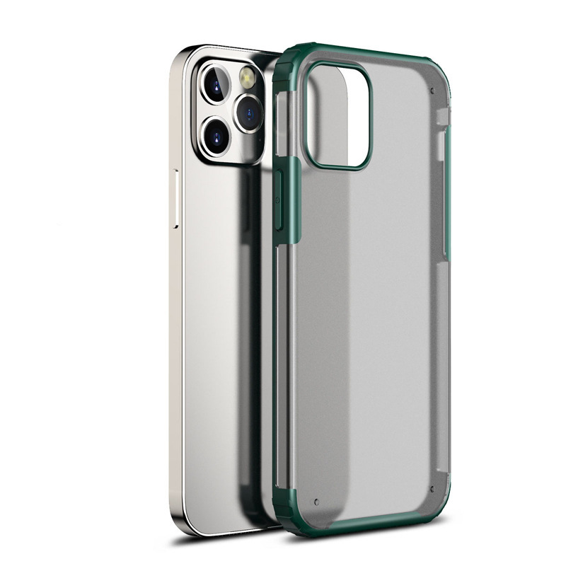 Mobile Phone Case Silica Gel Anti-slip Anti-drop Back Shell for iphone 11 green