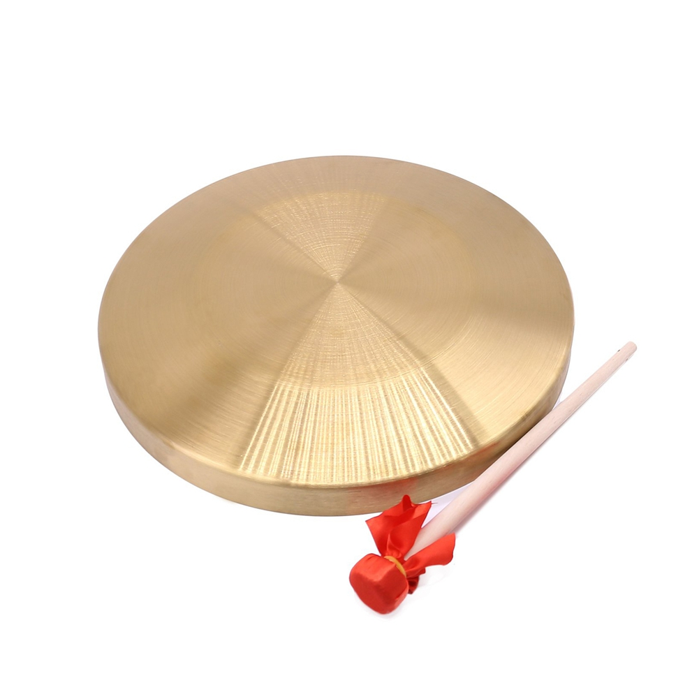 15.5cm/6inch Hand Copper Gong with Drumstick Mini Slamming Musical Instruments Kid Music Toy Gold