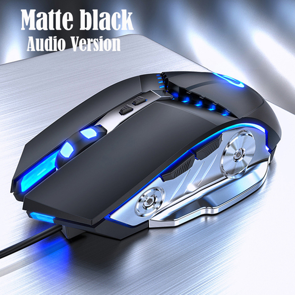 G3PRO Gaming Mouse 3200dpi Adjustable Silent Mouse Optical LED Usb Wired Computer Mouse Matte black audio version